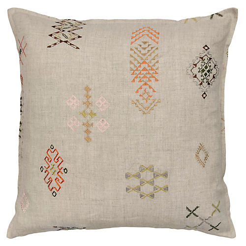 Tumbleweed 16x16 Pillow, Natural Linen