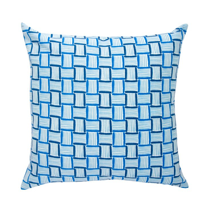 Key West 22x22 Pillow, Blue