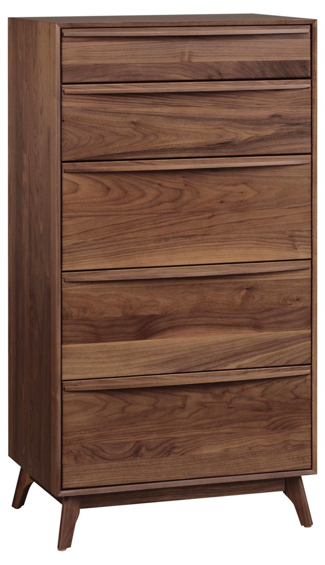 Catalina 5-Drawer Dresser, Walnut