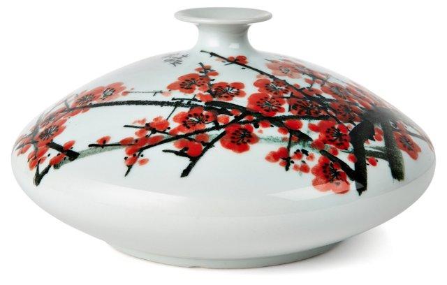 """12"""" Vase, Red/White"""