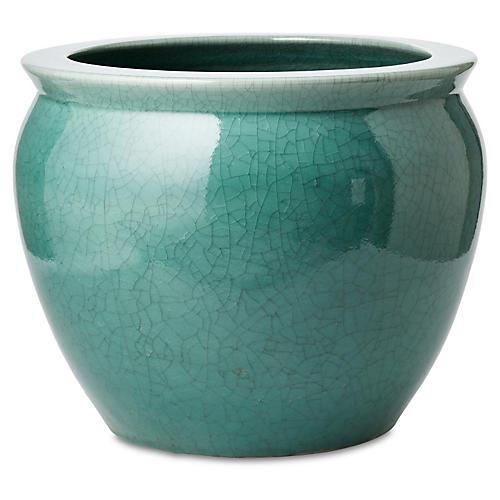 Fish Bowl Planter, Turquoise