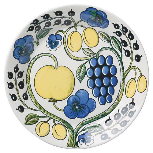 Paratiisi Dinner Plate, White/Multi