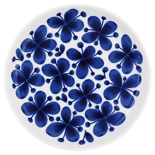 Mon Amie Dessert Plate, White/Blue