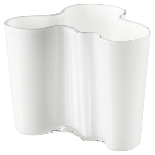 """7"""" Aalto Small Vase, White"""