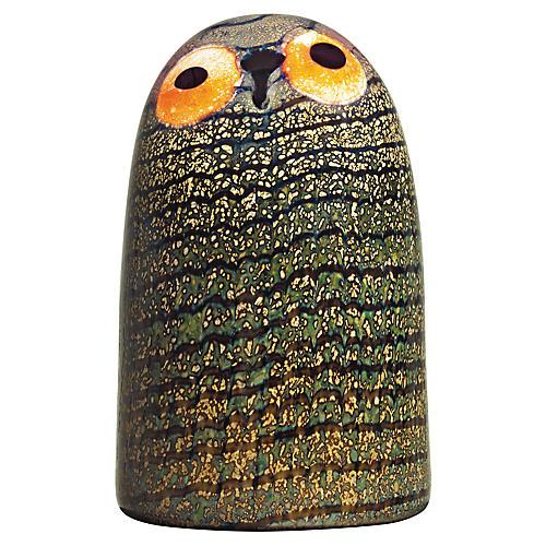 """6"""" Toikka Barn Owl Figurine, Black/Multi"""