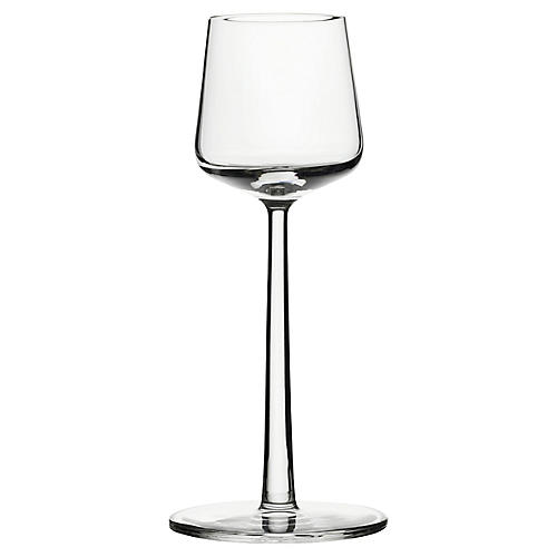 S/2 Essence Sherry Glasses, Clear