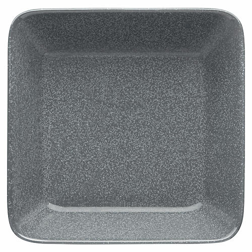 Teema Square Dinner Plate, Dotted Gray