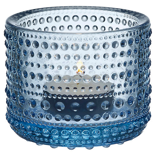 "3"" Kastehelmi Tealight Candleholder, Aqua"