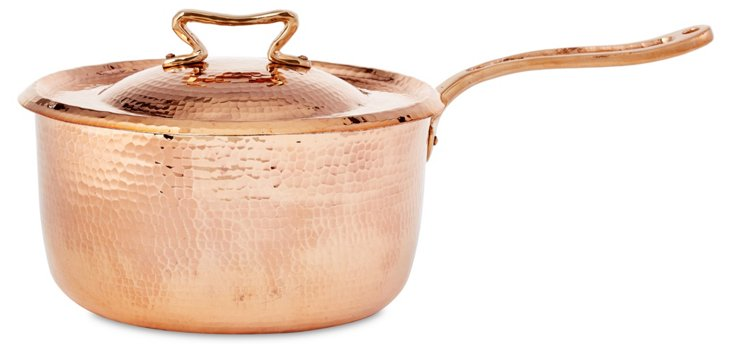 Copper Sauce Pan w/ Lid