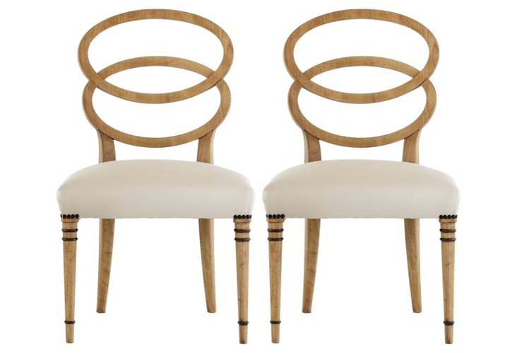 Bracelet Side Chairs, Pair