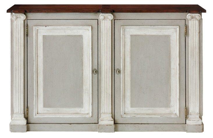 "Ionic 59"" Storage Cabinet, Gray/Cherry"