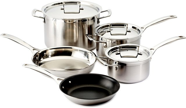 8-Pc Stainless Steel Cookware Set