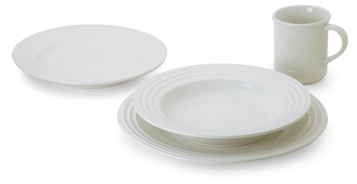 4-Pc Dinnerware Set, White