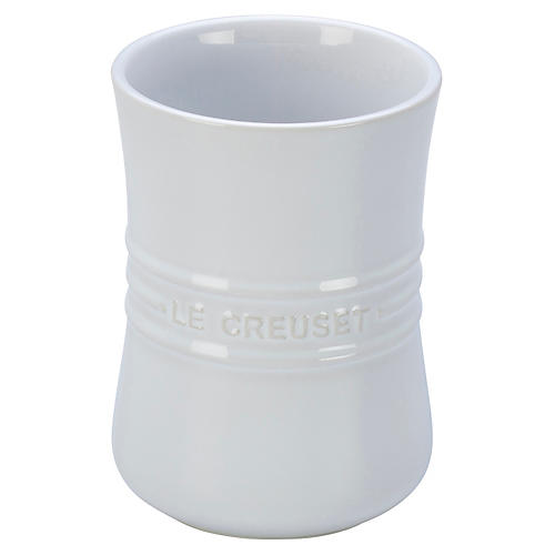 "6.5"" Utensil Crock, White"