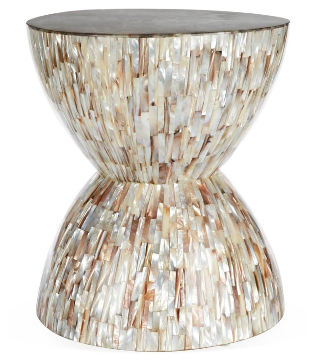 Everly Side Table, Shell