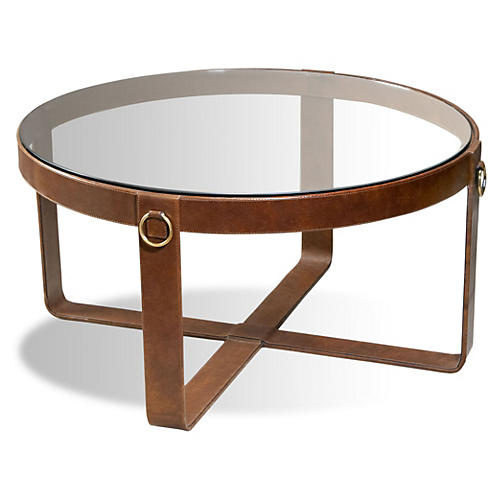 Jameson Leather Cocktail Table