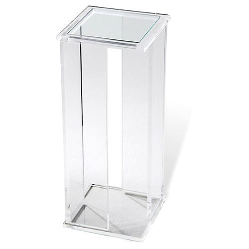 Fellix Square Acrylic Drinks Table