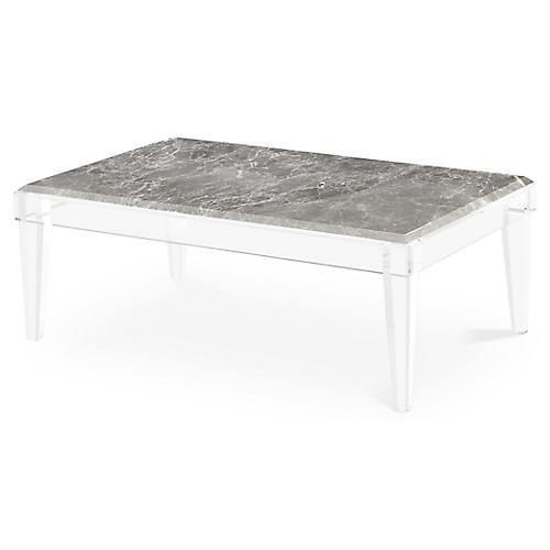 Amal Acrylic Coffee Table, Gray