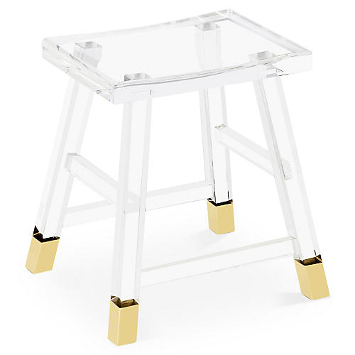Reeva Acrylic Stool, Clear