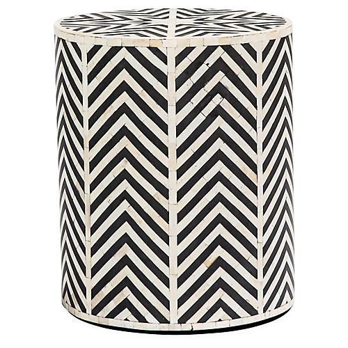 Kiara Side Table, Cream