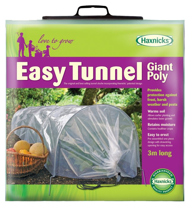 """118"""" Giant Easy Poly Tunnel, Clear"""