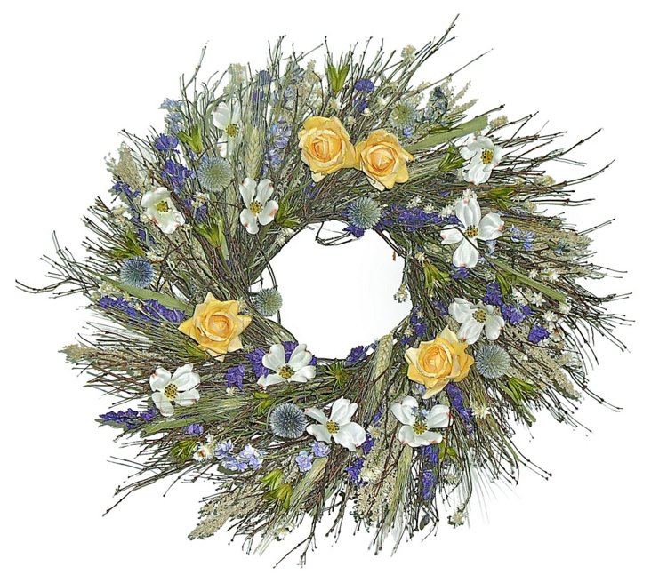 """22"""" Lavender Fontaine Wreath, Dried"""