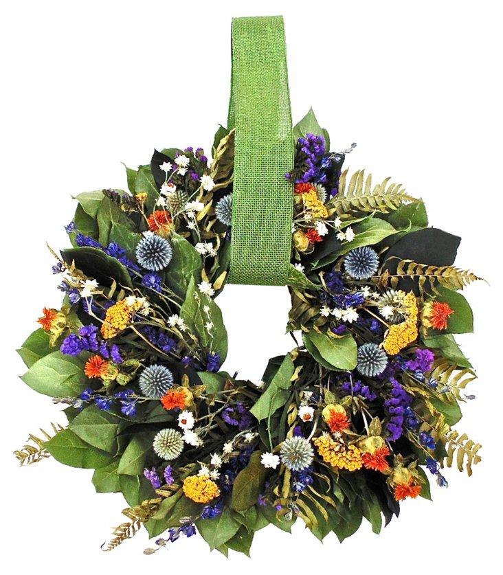"16"" Garden of Flowers Wreath, Dried"