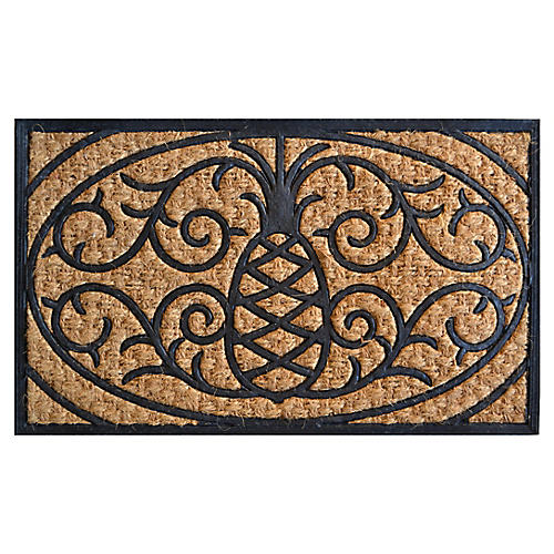 "1'6""x2'6"" Sculptor Outdoor Doormat, Black/Brown"