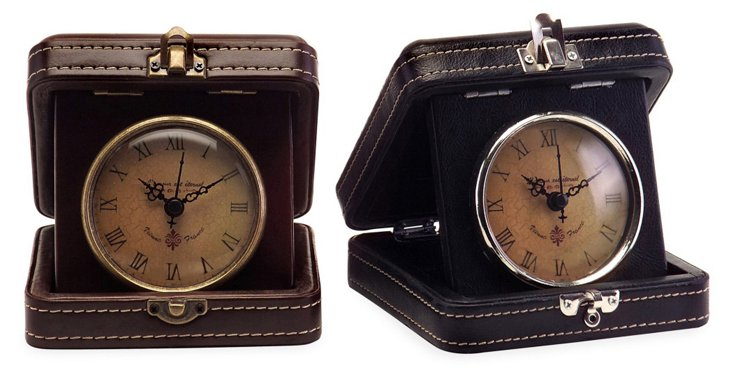 S/2 Stowaway Travel Clocks