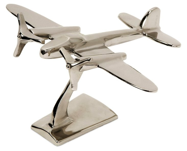 "9"" Up in the Air Plane, Silver"