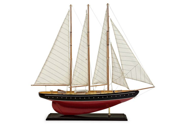 "30"" Sailboat Figurine, Red"