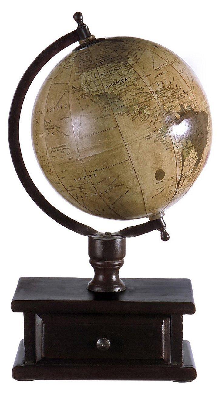 Globe w/ Drawered Stand