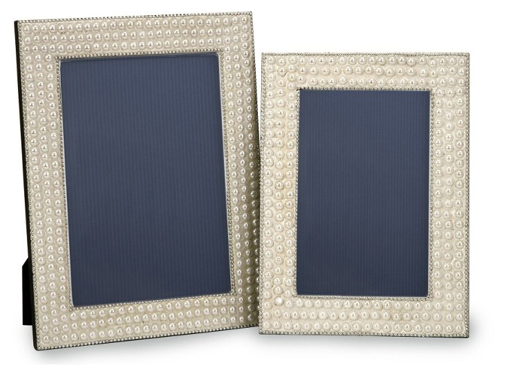 S/2 Raina Finish Frames, Pearl