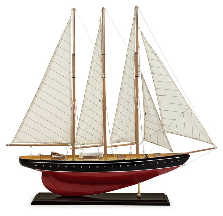 "33"" Sailboat Model, Red"