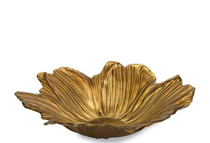 Marquette Floral Glass Bowl