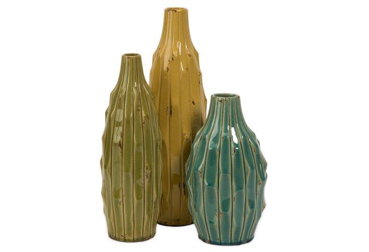 S/3 Soto Vases