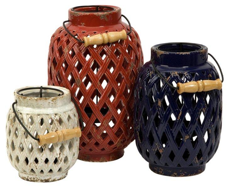 Asst. of 3 Bailey Lattice Lanterns