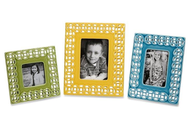 Links Photo Frames, Asst. of 3