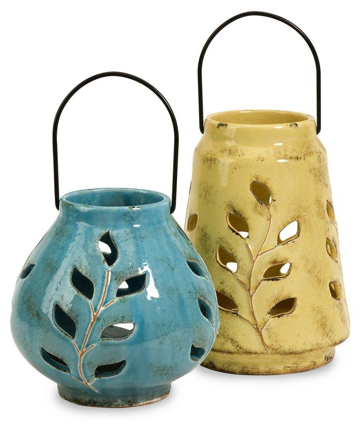 Austin Ceramic Lanterns, Asst. of 2