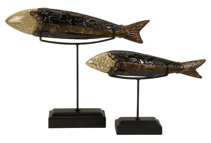 S/2 Erie Fish on Stand
