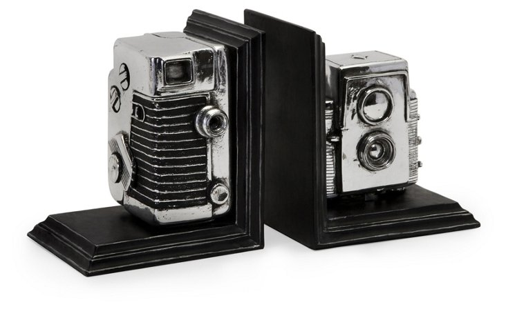 Pair of Vintage Camera Bookends
