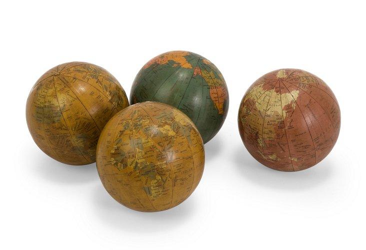 Asst. of 4 Antique-Finished Globes
