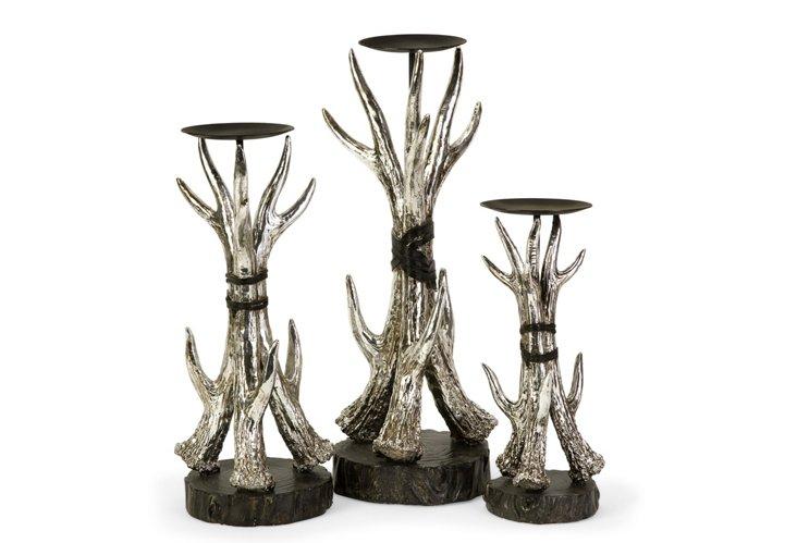 Asst. of 3 Antler Candleholders
