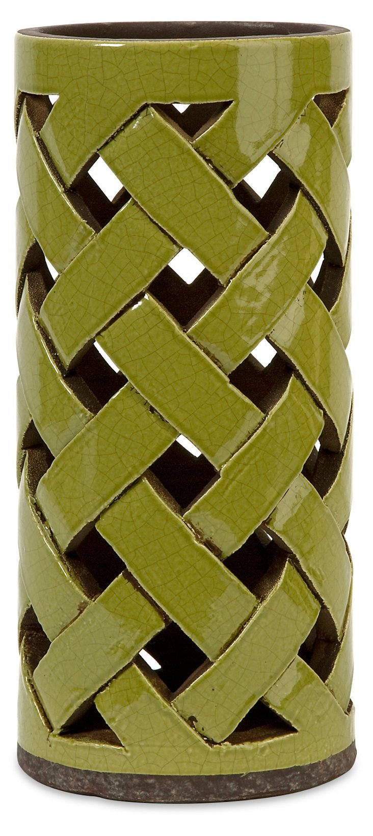 "14"" Morelia Cutwork Lantern, Green"
