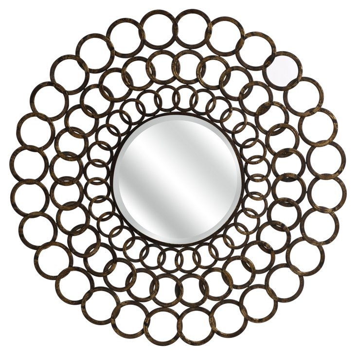 Ring Wall Mirror, Gold