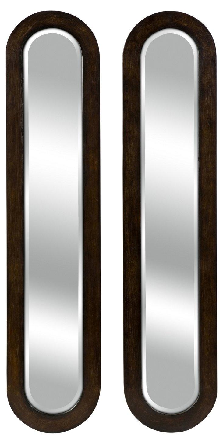 Agathe Oval Mirrors Set