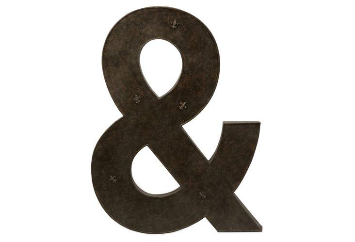 """40"""" Ampersand Magnet Board, Black"""