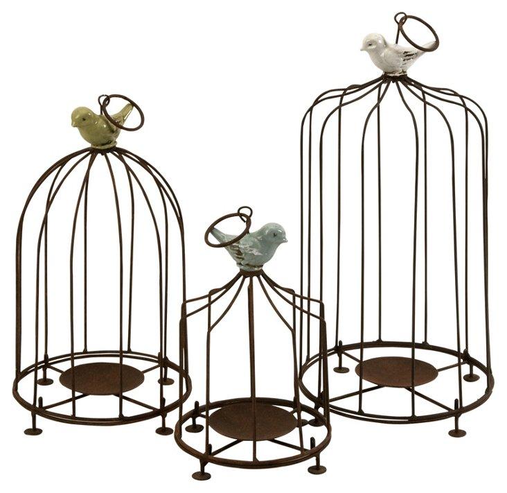 Asst. of 3 Birdcage Candleholders