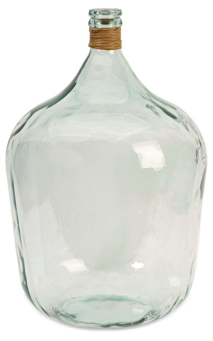 "22"" Recycled Glass Jug, Clear"
