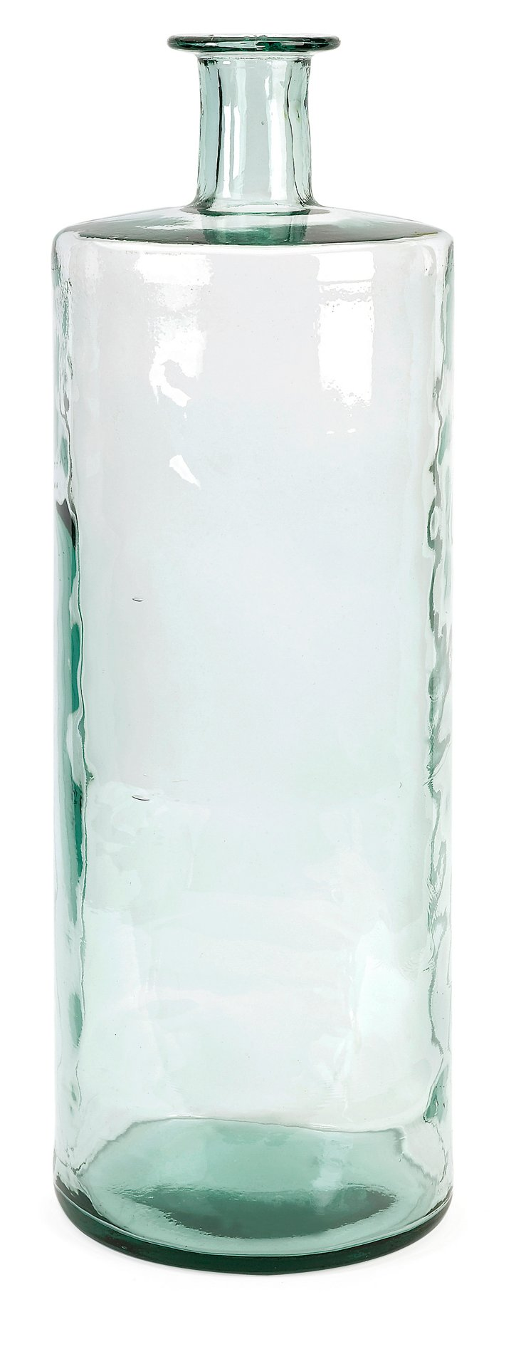 "30"" Recycled Glass Vase, Blue"